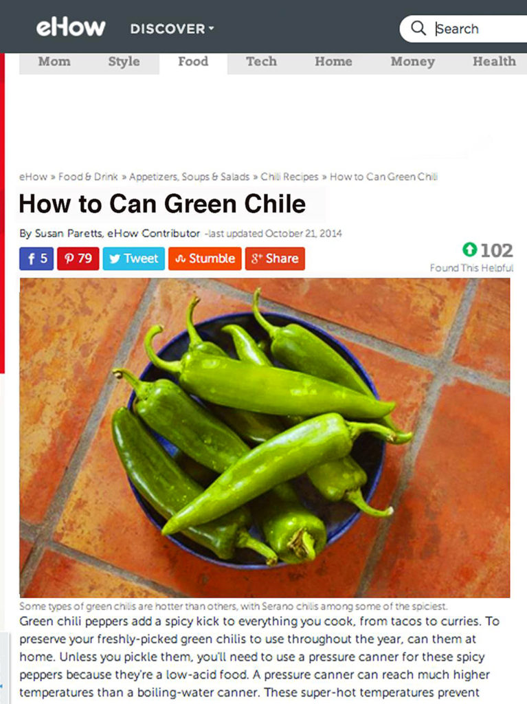eHow Green Chiles
