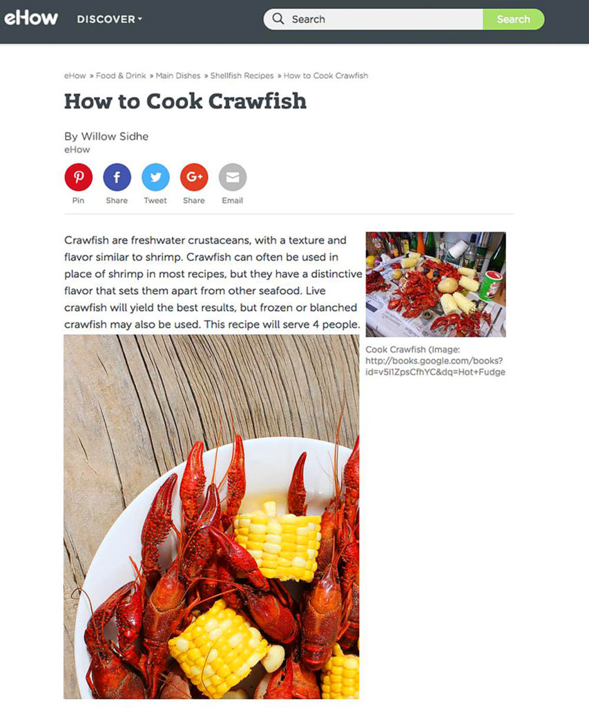 eHow How to CookCrawfish