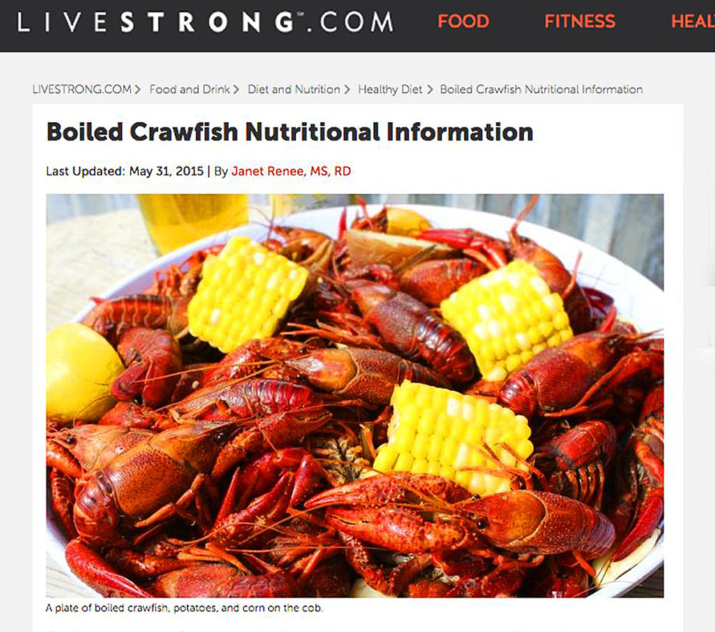 Livestrong.com Boiled Crawfish
