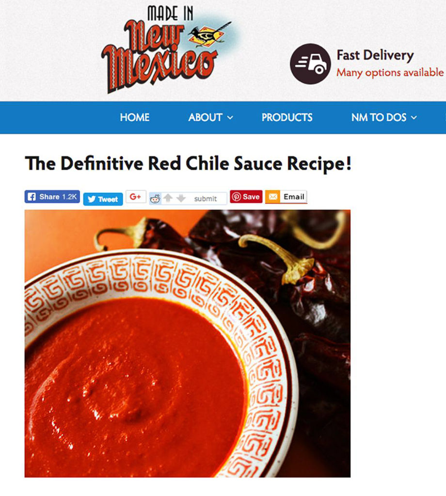 Made in New Mexico Red Chile Sauce
