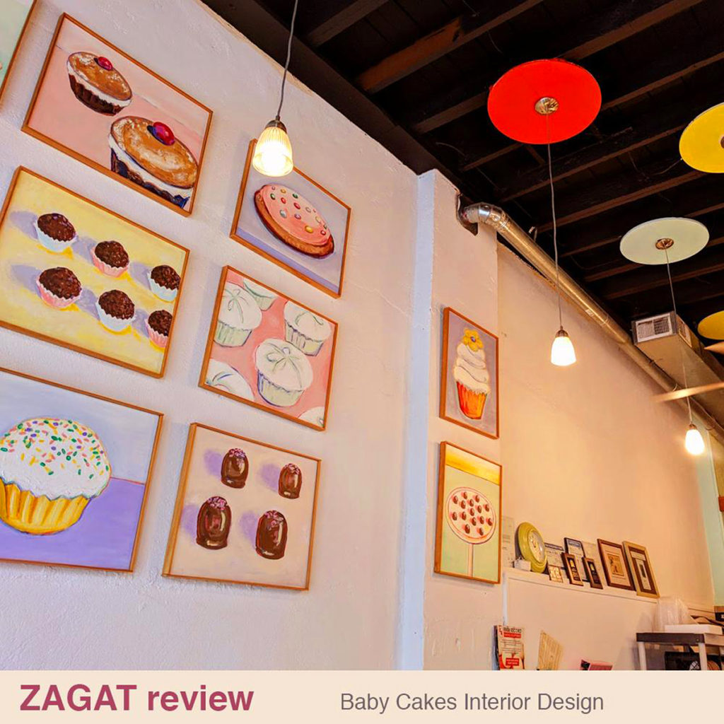 Zagat review Baby Cakes Interior Design